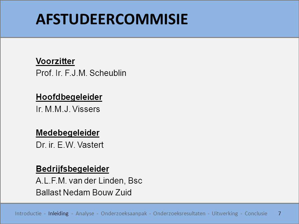 Voorzitter Prof. Ir. F.J.M. Scheublin Hoofdbegeleider Ir. M.M.J. Vissers Medebegeleider Dr. ir. E.W. Vastert Bedrijfsbegeleider A.L.F.M. van der Linde