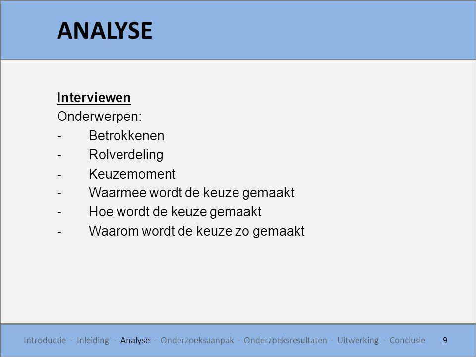 KEUZEMODEL - SUBINVOERBLAD 40 Introductie - Inleiding - Analyse - Onderzoeksaanpak - Onderzoeksresultaten - Uitwerking - Conclusie STAP 3: Invoer wandoppervlak