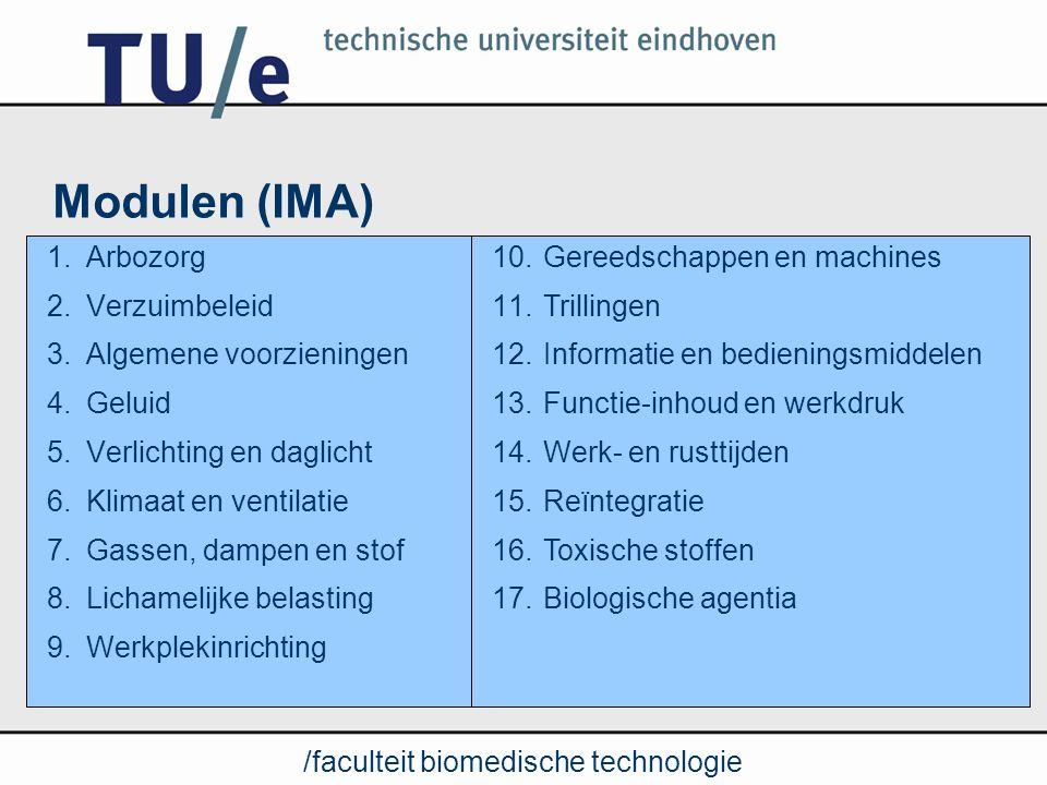 /faculteit biomedische technologie Wie doet welke module.