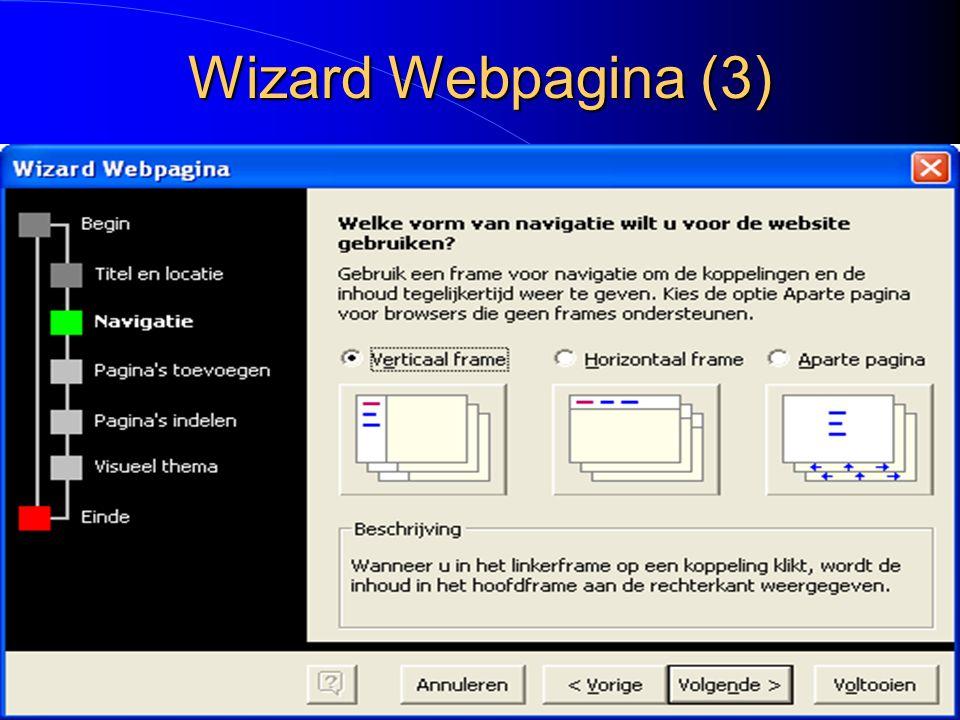 Wizard Webpagina (3)
