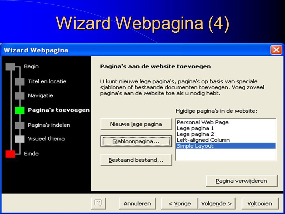 Wizard Webpagina (4)