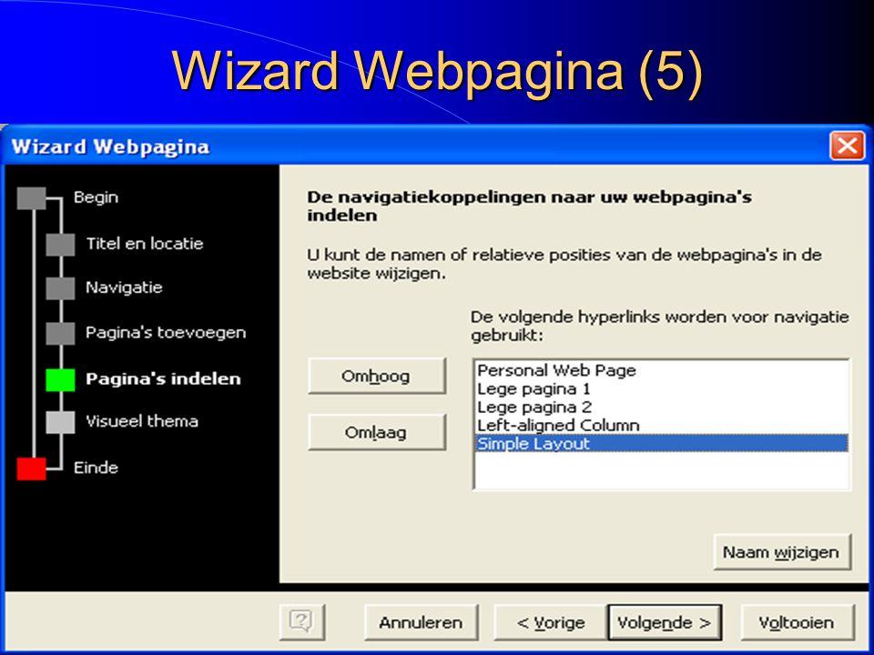 Wizard Webpagina (5)