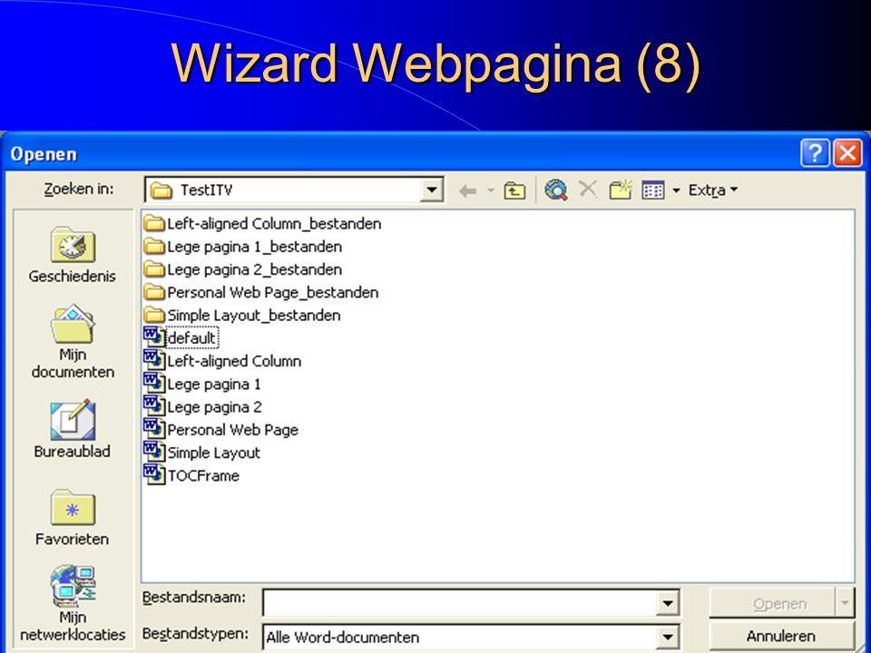 Wizard Webpagina (8)