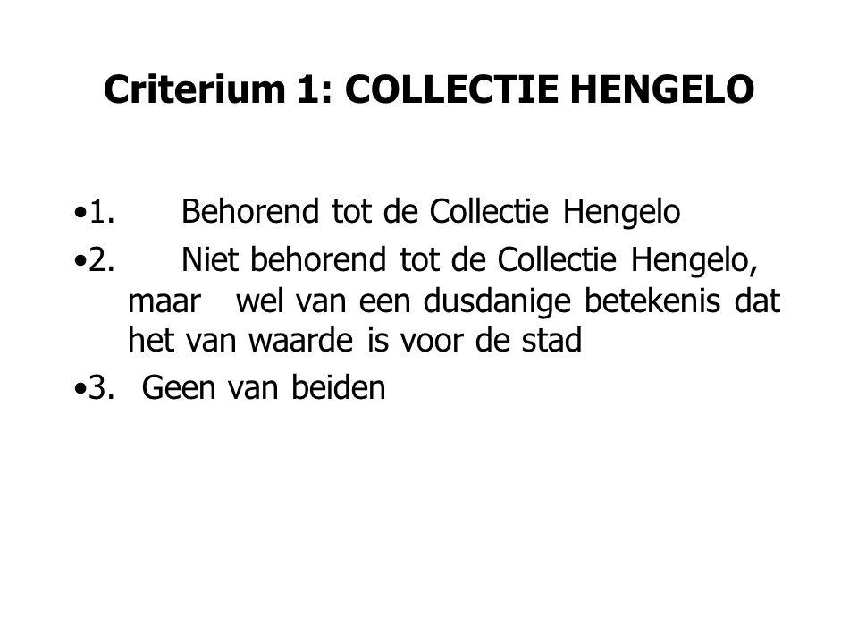 Criterium 2: BETEKENIS / CONTEXT 1.historische betekenis 2.