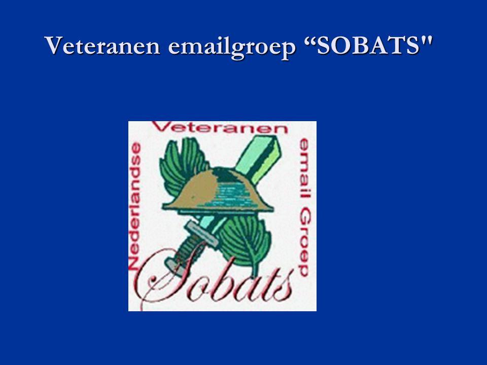 Veteranen emailgroep SOBATS Veteranen emailgroep SOBATS