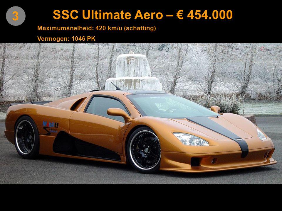 4 Leblanc Mirabeau – € 446.000 Maximumsnelheid: 370 km/u Vermogen: 700 PK