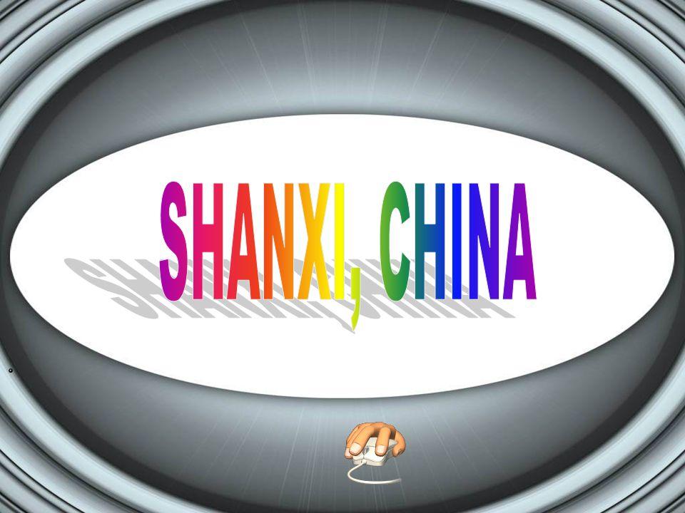 Shanxi, China STAD gebouwd in het Shan gebergte Het is wonderlijk en we moeten ons afvragen waarom en hoe ze het dit hebben gebouwd.