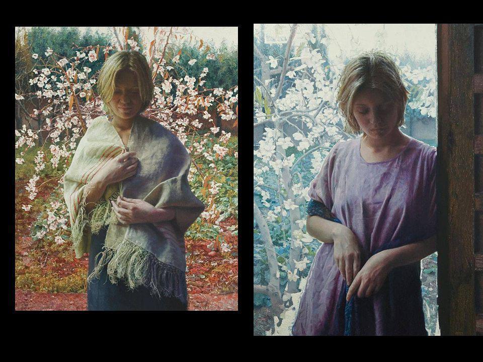 Portretten van haar nicht, die haar veelvuldig bezocht. En van vriendinnen die ze soms meebracht.