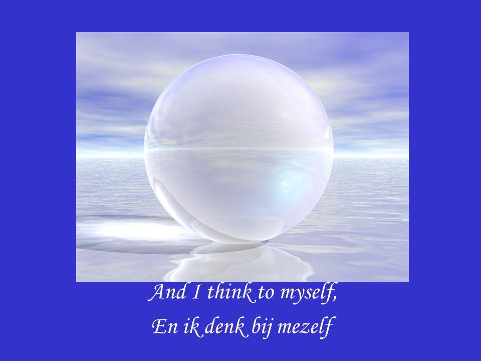 And I think to myself, En ik denk bij mezelf