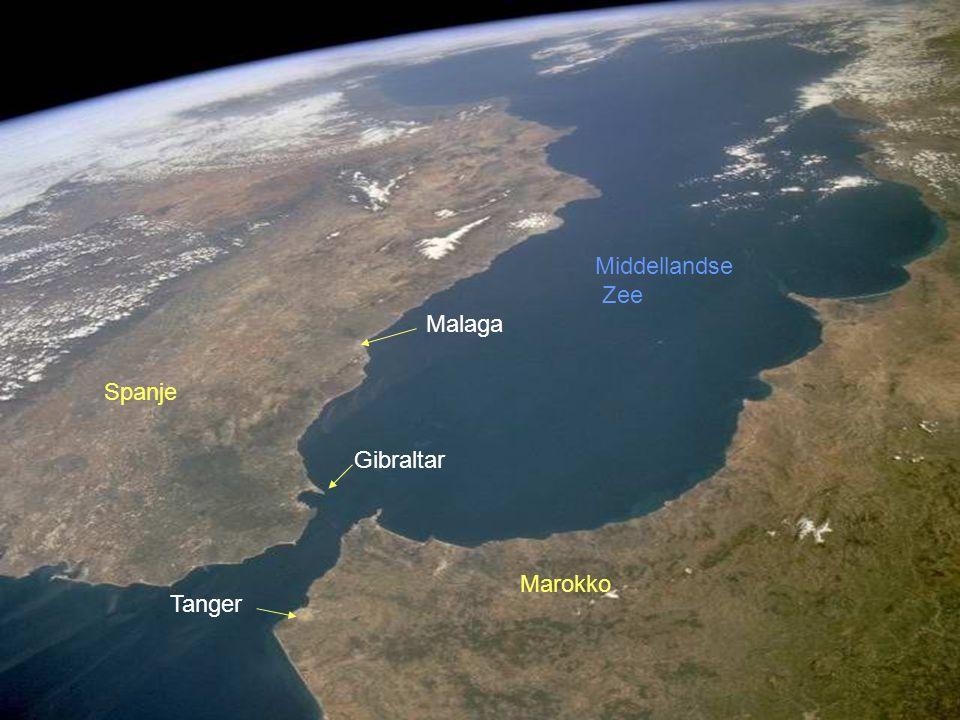 Gibraltar Tanger Marokko Spanje Malaga Middellandse Zee