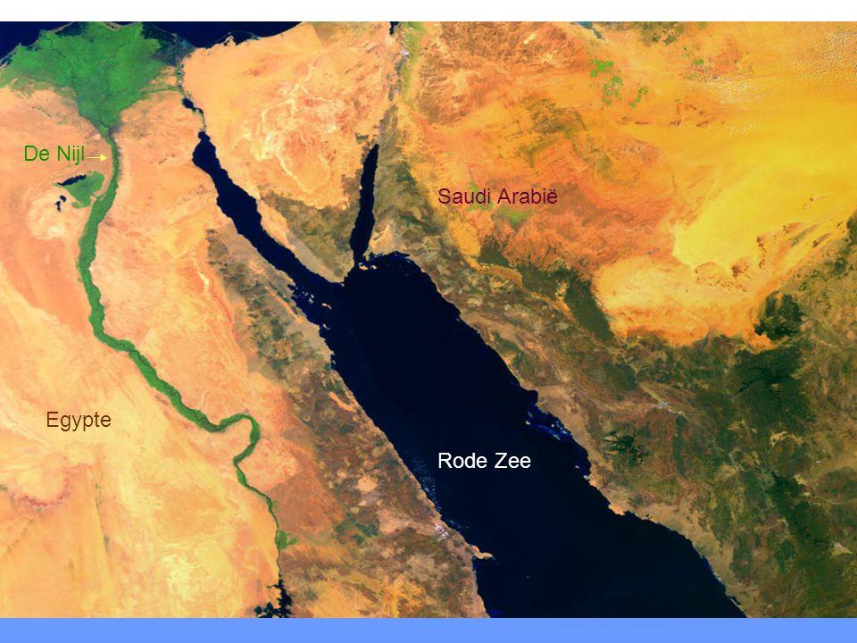 De Nijl Egypte Rode Zee Saudi Arabië