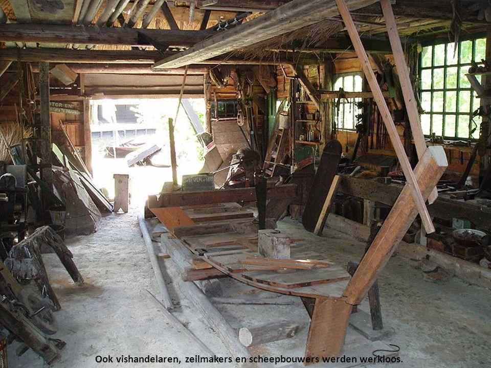 Veel vissers maakten gebruik van de Zuiderzeesteunwet en vroegen een uitkering aan. Anderen werden bijvoorbeeld pluimveehouder of boer.