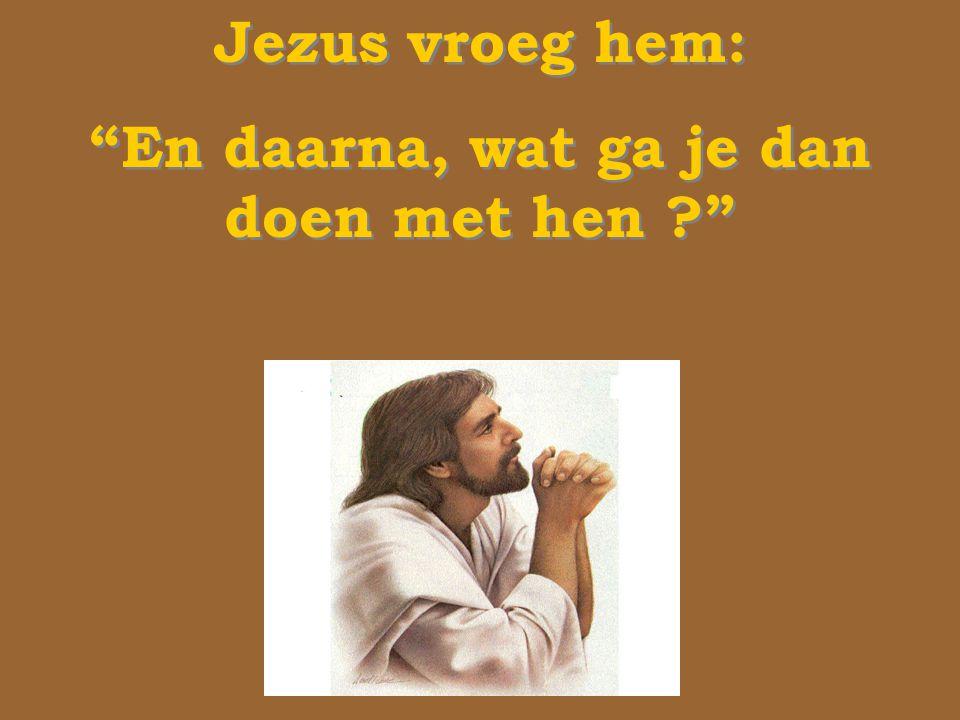 Jezus vroeg hem: En daarna, wat ga je dan doen met hen ? Jezus vroeg hem: En daarna, wat ga je dan doen met hen ?