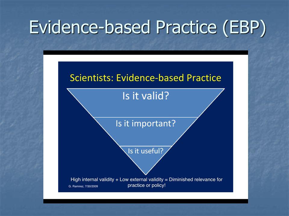 Evidence-based Practice (EBP) Evidence-based Practice (EBP)