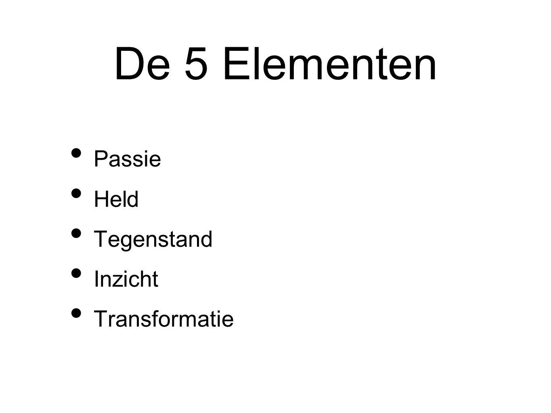 De 5 Elementen Passie Held Tegenstand Inzicht Transformatie