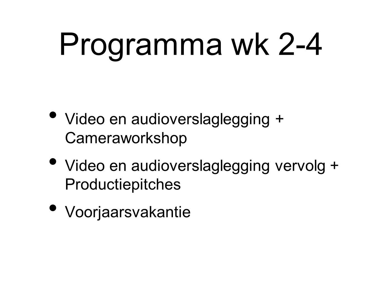 Programma wk 5-7 Vertellen met Video / Auteursrecht + Storyboarding Introductie in videobewerken + Storyboarding Louis Theroux + Man bijt hond item