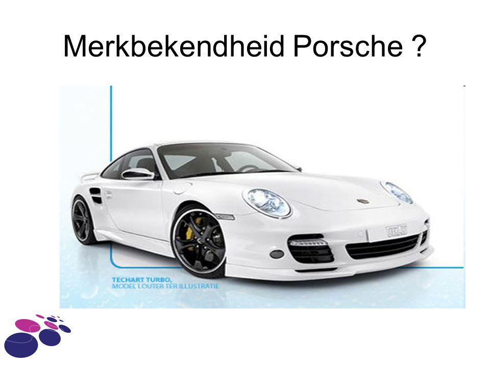 Merkbekendheid Porsche