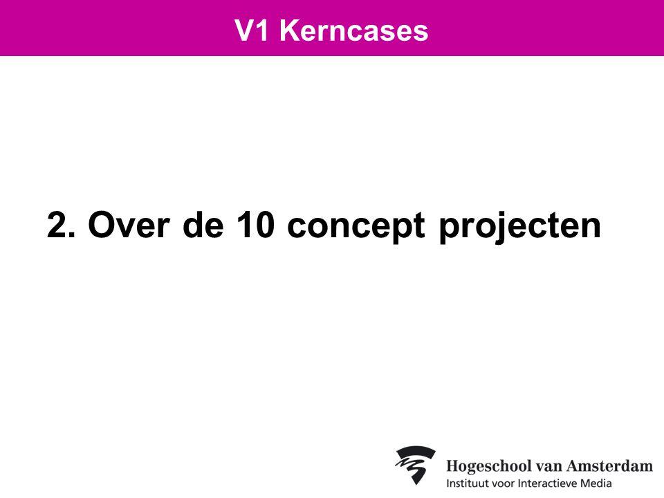 2. Over de 10 concept projecten V1 Kerncases