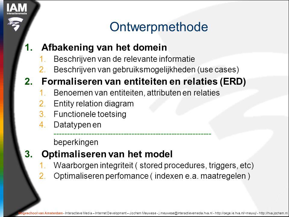 Hogeschool van Amsterdam - Interactieve Media – Internet Development – Jochem Meuwese - j.meuwese@interactievemedia.hva.nl - http://oege.ie.hva.nl/~meuwj/ - http://hva.jochem.nl Many-to-one = FK to PK voetballer  ID  naam  clubID club  ID  trainer  voetballer is_lid_van club  meer voetballers zijn lid van een club  De Foreign Key verwijst naar de Primary Key