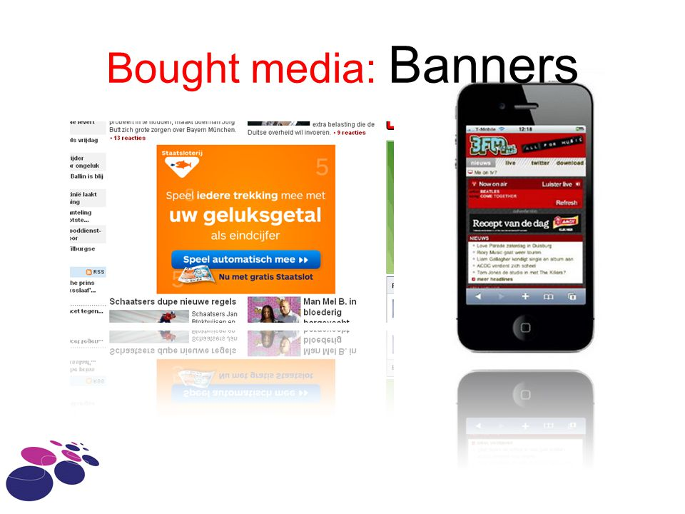 Bought media: Banners