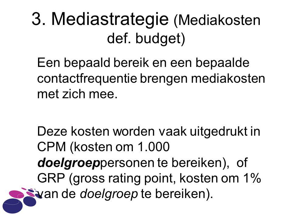 3.Mediastrategie (Mediakosten def.
