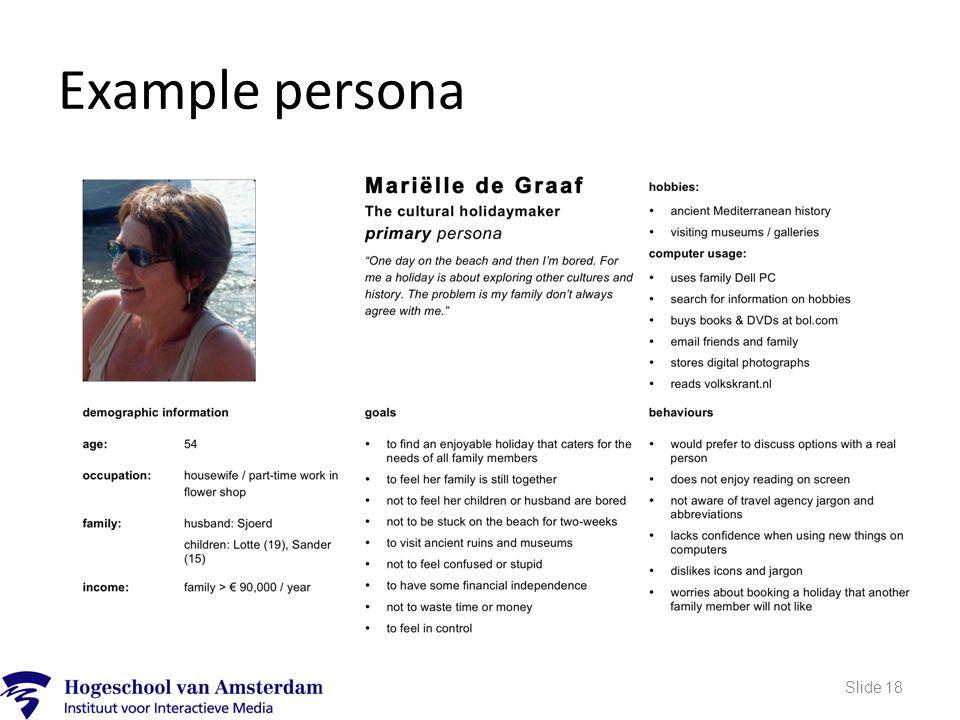 Example persona Slide 18