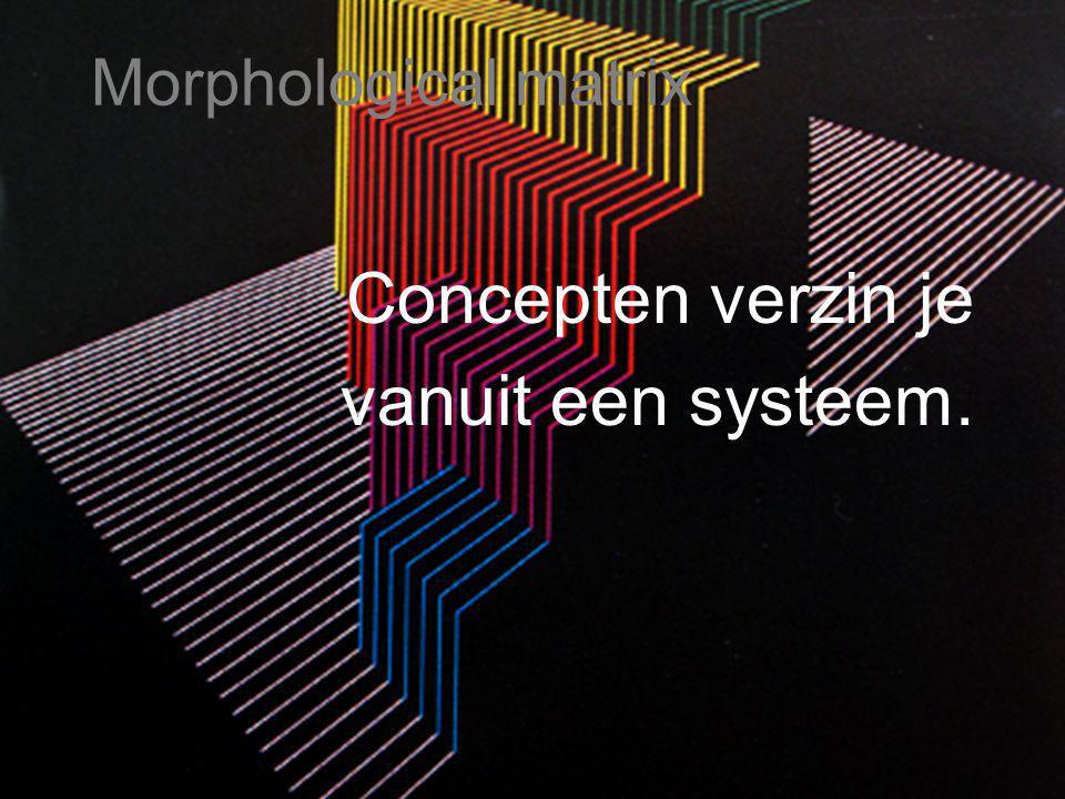 Concepten verzin je vanuit een systeem.