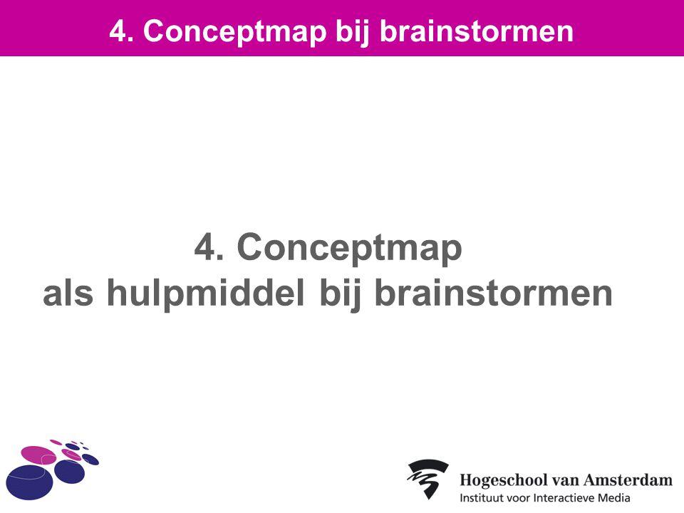 4. Conceptmap als hulpmiddel bij brainstormen 4. Conceptmap bij brainstormen