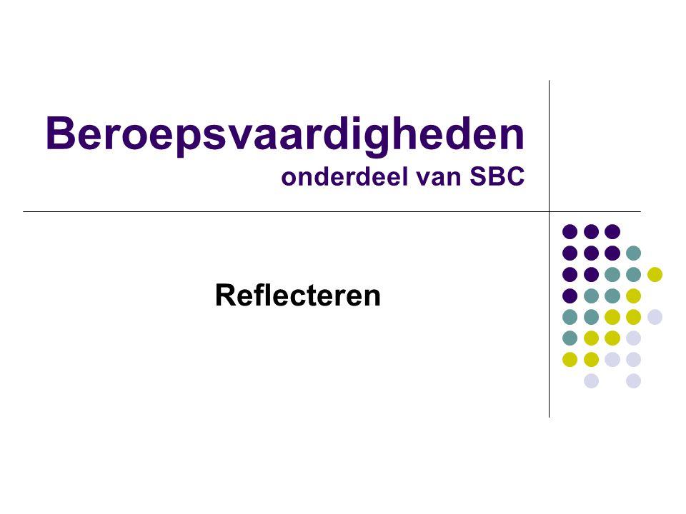 Beroepsvaardigheden onderdeel van SBC Reflecteren