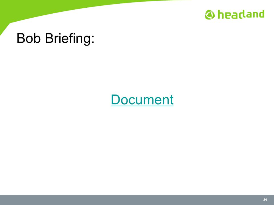 24 Bob Briefing: Document
