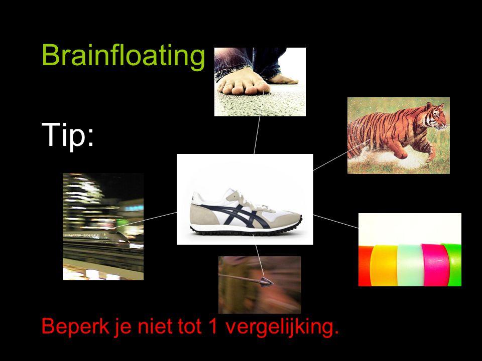 Brainfloating Tip: Beperk je niet tot 1 vergelijking.