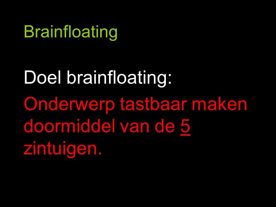 Brainfloating 1.Zien 2.Horen 3.Voelen 4.Ruiken 5.Proeven