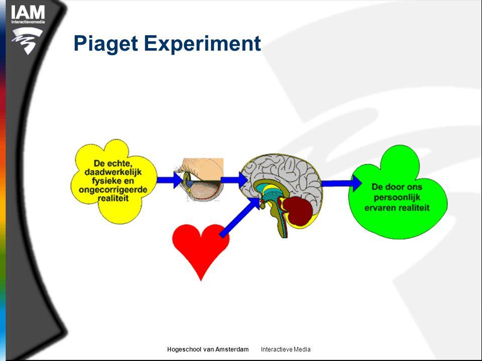 Hogeschool van Amsterdam Interactieve Media Piaget Experiment