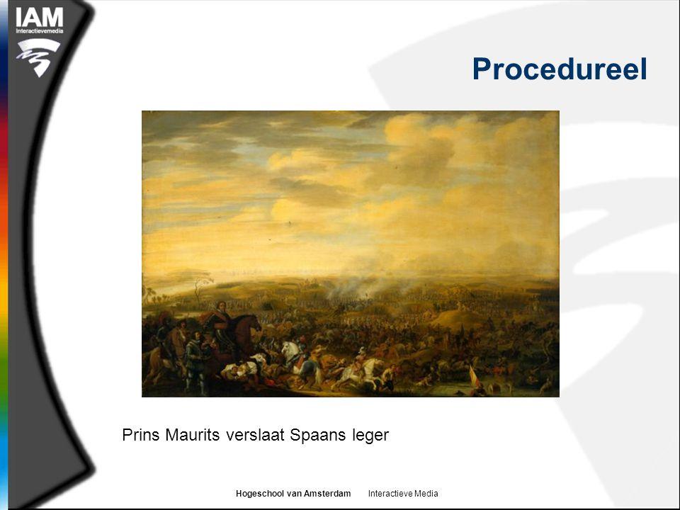 Hogeschool van Amsterdam Interactieve Media Procedureel Prins Maurits verslaat Spaans leger