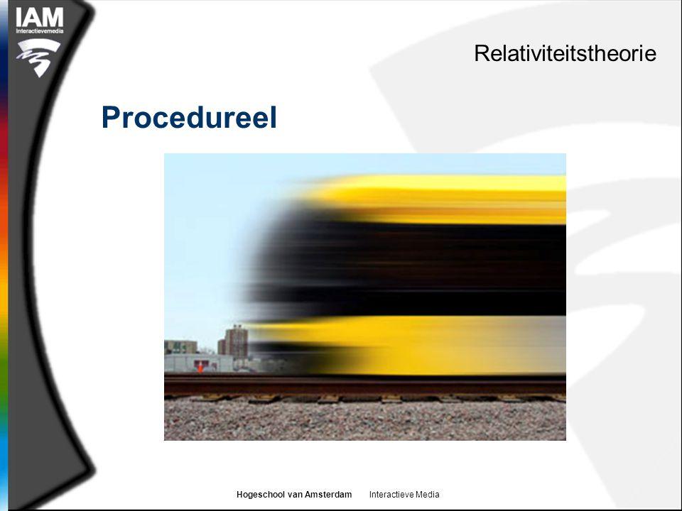 Hogeschool van Amsterdam Interactieve Media Procedureel Relativiteitstheorie