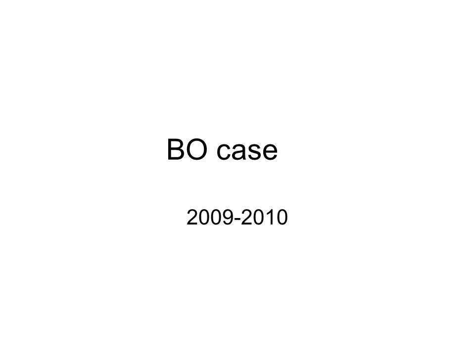 BO case 2009-2010