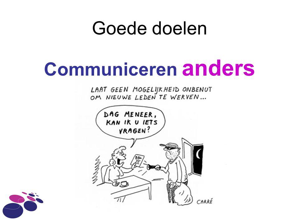 Goede doelen Communiceren anders