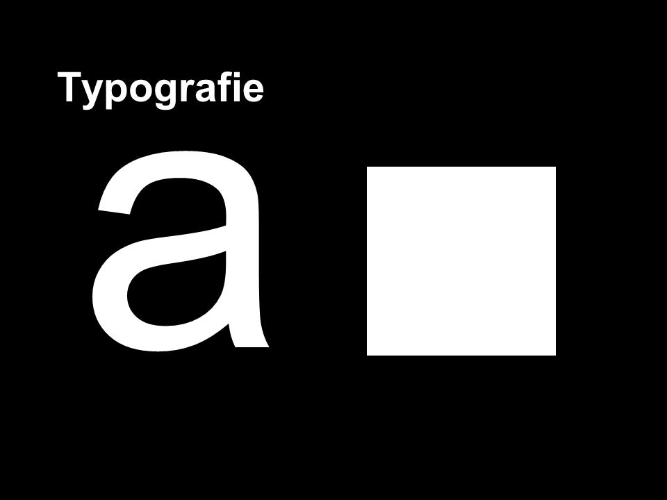 Typografie a