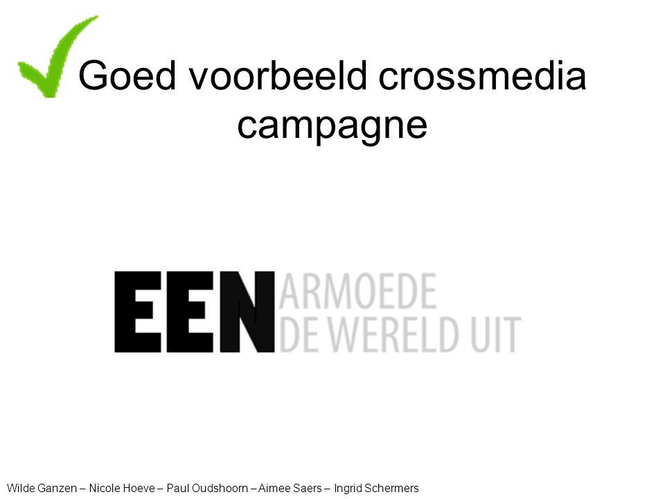 Goed voorbeeld crossmedia campagne Wilde Ganzen – Nicole Hoeve – Paul Oudshoorn – Aimee Saers – Ingrid Schermers