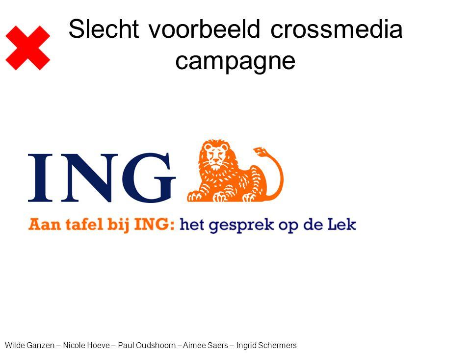Slecht voorbeeld crossmedia campagne Wilde Ganzen – Nicole Hoeve – Paul Oudshoorn – Aimee Saers – Ingrid Schermers