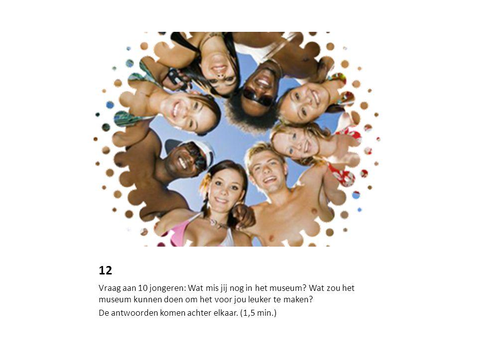 12 Vraag aan 10 jongeren: Wat mis jij nog in het museum.