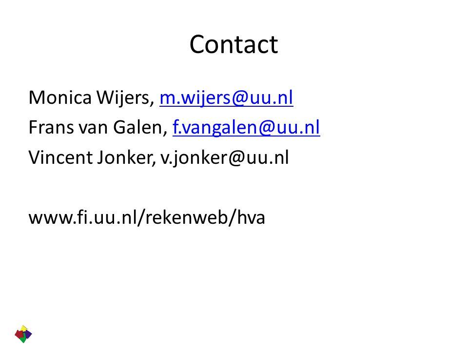 Contact Monica Wijers, m.wijers@uu.nlm.wijers@uu.nl Frans van Galen, f.vangalen@uu.nlf.vangalen@uu.nl Vincent Jonker, v.jonker@uu.nl www.fi.uu.nl/reke