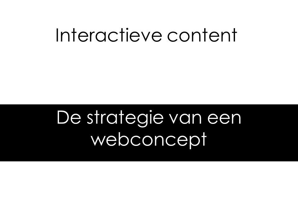 Interactieve content De strategie van een webconcept