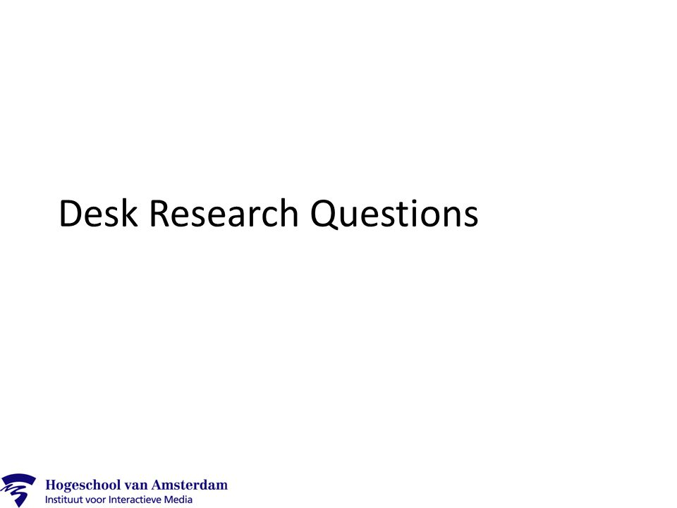 Desk Research Answers