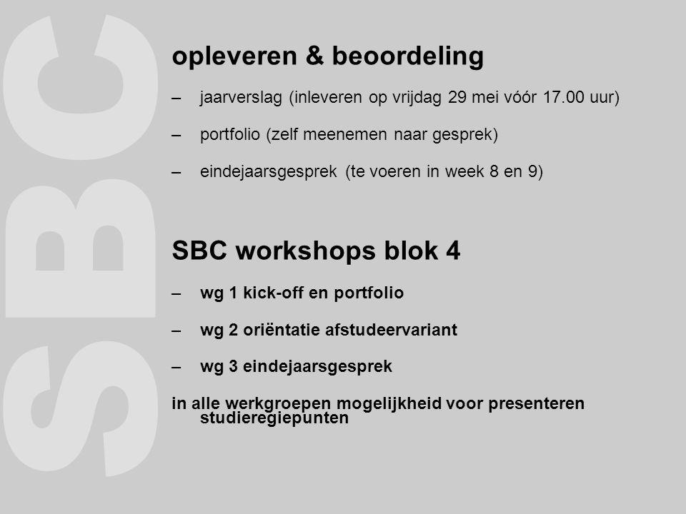 Blok-enquete kijk op het intranet op de pagina van het eindejaarsgesprek klik op de link: blokevaluatie
