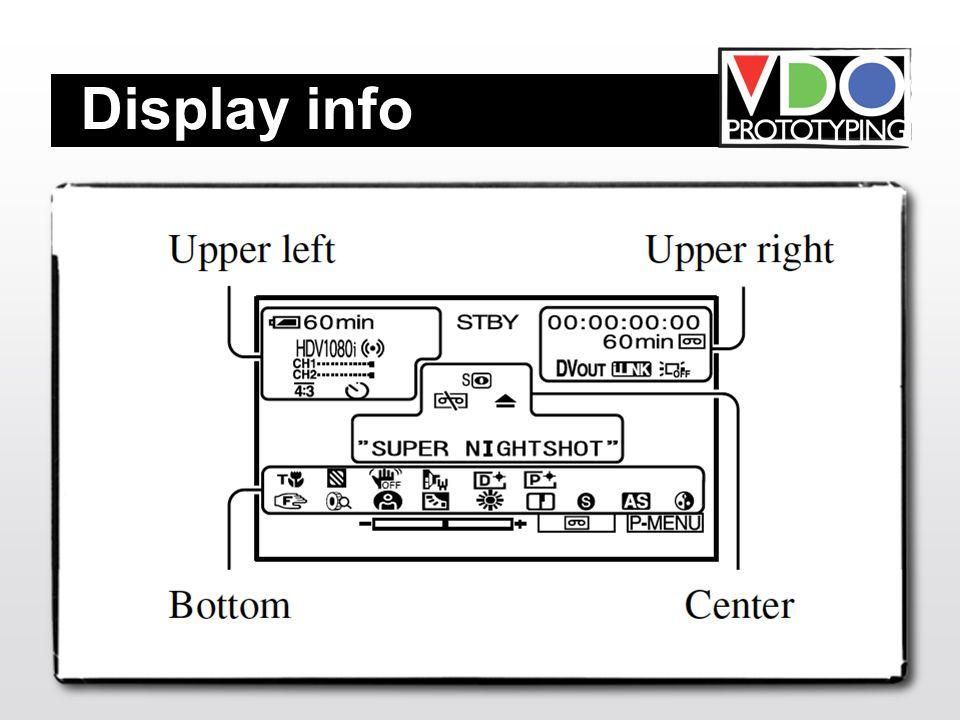 Display info