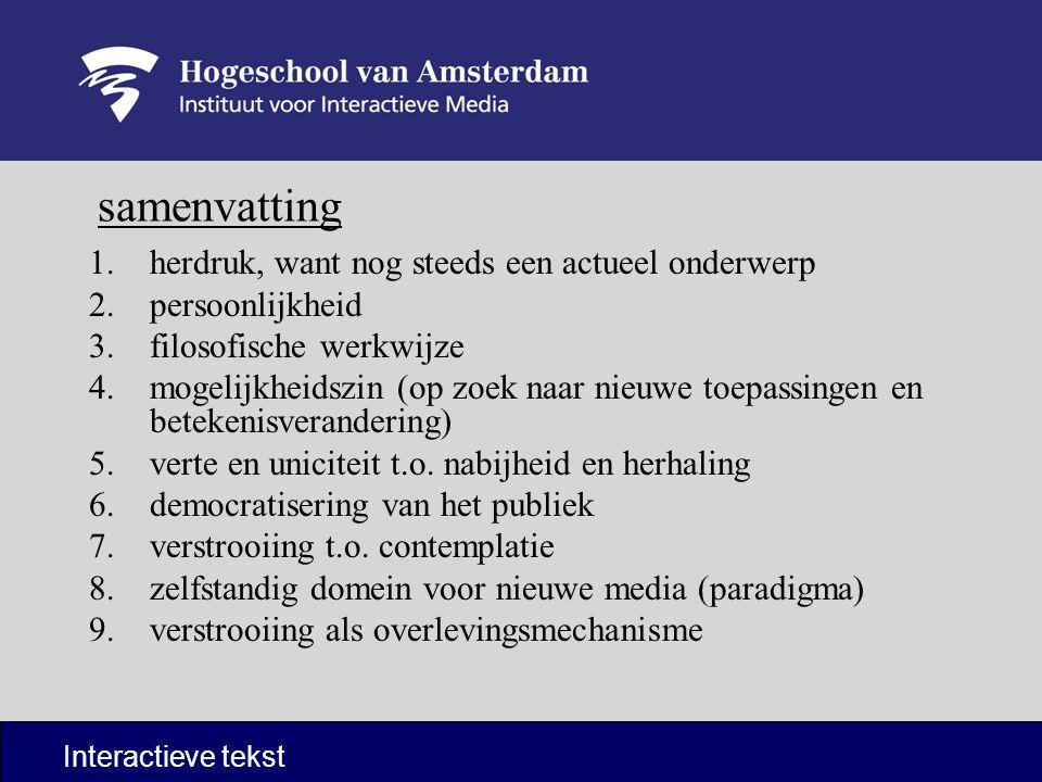 Lezen Interactieve tekst Huiswerk Andrew Keen t/m hoofdstuk 2 Afmaken dummy-sheet