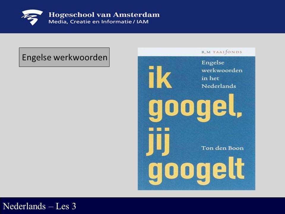 Engelse werkwoorden Nederlands – Les 3