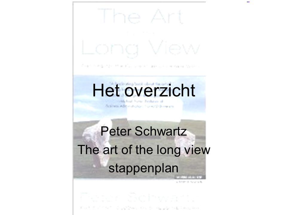 Het overzicht Peter Schwartz The art of the long view stappenplan