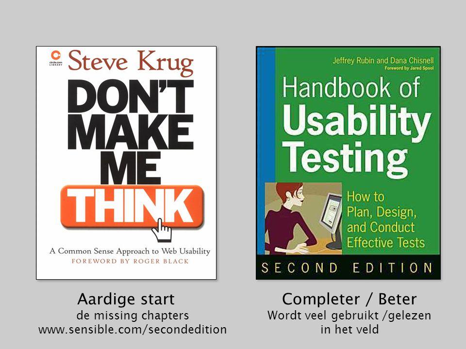 Completer / Beter Wordt veel gebruikt /gelezen in het veld Aardige start de missing chapters www.sensible.com/secondedition